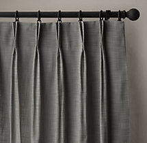 Perennials® Classic Linen Weave Drapery - French-Pleat