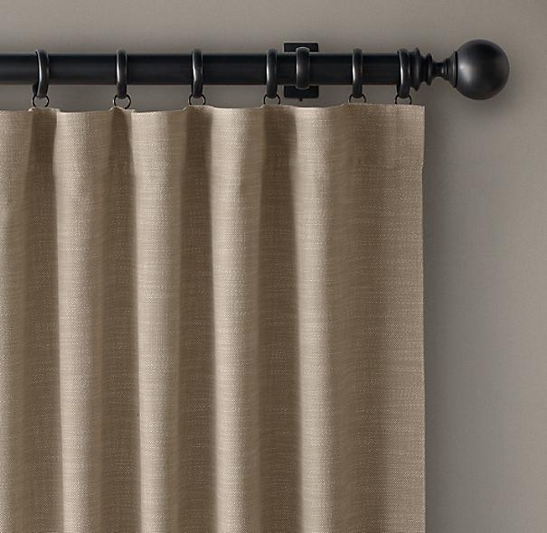 Perennials 174 Textured Linen Weave Drapery Rod Pocket