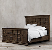 17th C. Castelló Bed With Footboard