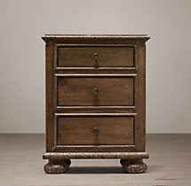 "French Empire 20"" Closed Nightstand"