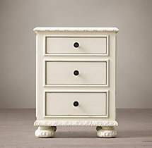 "20"" French Empire Extra Narrow Closed Nightstand"