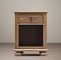 "20"" French Empire Open Nightstand"