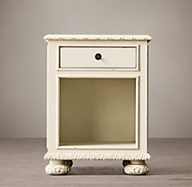 "20"" French Empire Extra Narrow Open Nightstand"