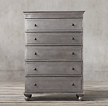 Annecy Metal-Wrapped 5-Drawer Narrow Dresser