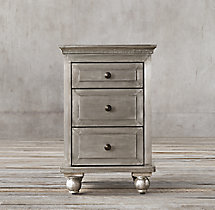 "18"" Annecy Metal-Wrapped Closed Nightstand"