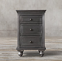 "Annecy Metal-Wrapped 18"" Closed Nightstand"