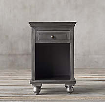 "Annecy Metal-Wrapped 18"" Open Nightstand"