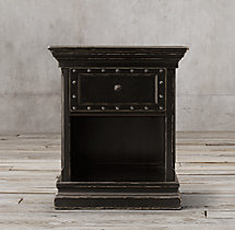 "26"" 17th C. Castelló Open Nightstand"