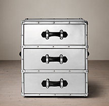 Trans–Atlantic Steamer Trunk 3-Drawer Cube