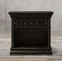 "32"" 17th C. Castelló Open Nightstand"