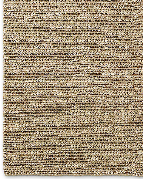 Chunky Hand-Braided Jute Rug - Honey