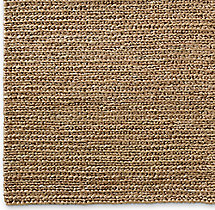 Chunky Hand-Braided Jute Rug Swatch - Linen