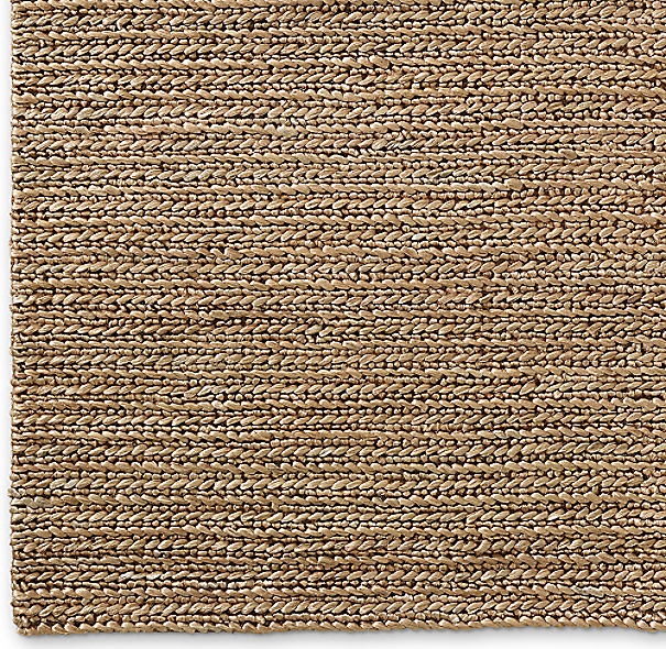 Chunky Hand Braided Jute Rug Swatch Linen