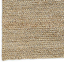 Chunky Hand-Braided Jute Rug Swatch - Honey
