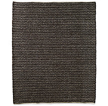 Chunky Mini-Diamond Wool Rug - Chocolate