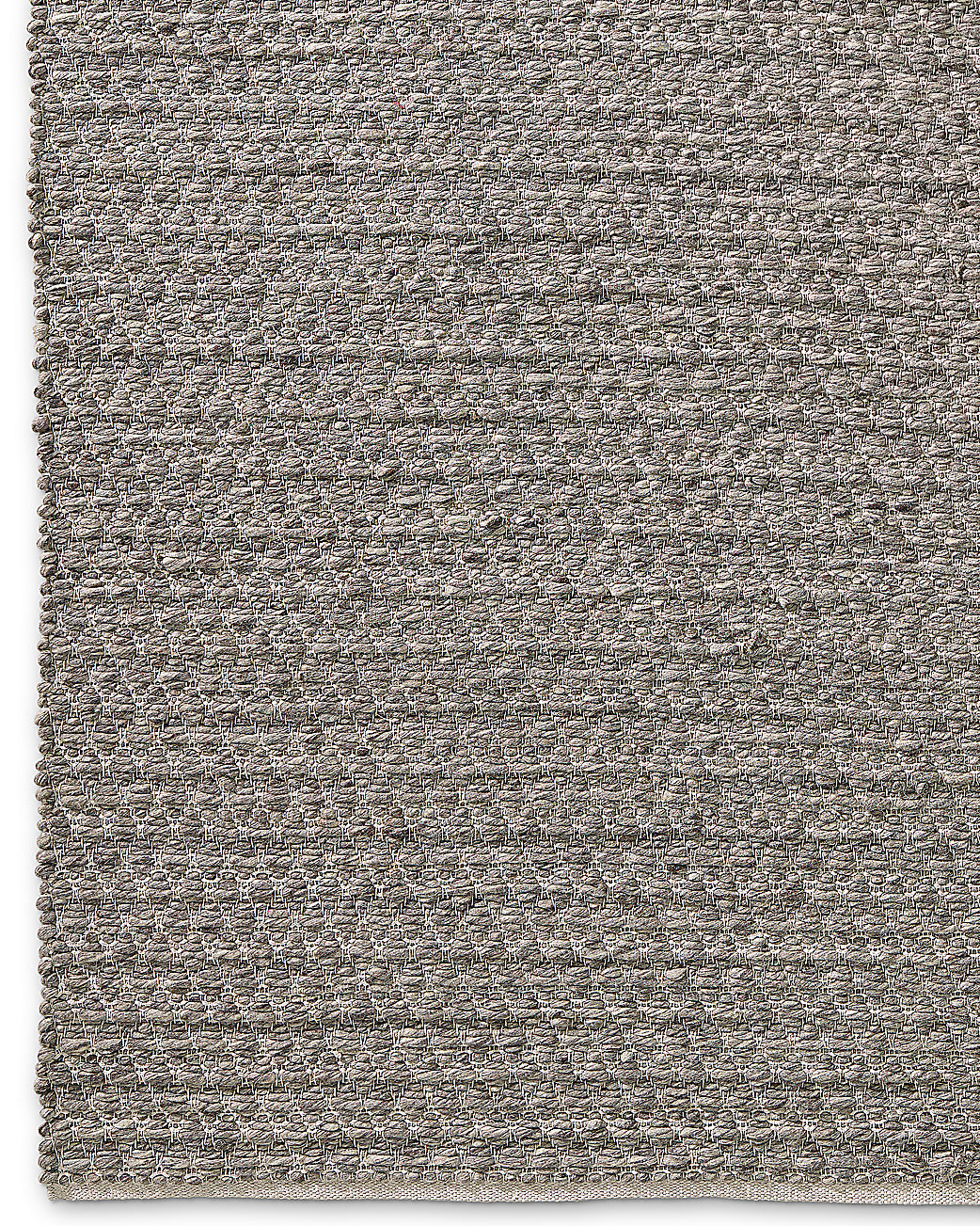 Chunky Mini-Diamond Wool Rug - Grey