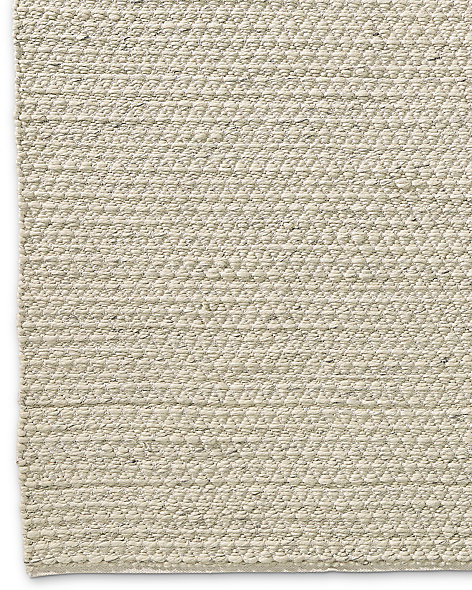 Chunky Mini-Diamond Wool Rug - Ivory