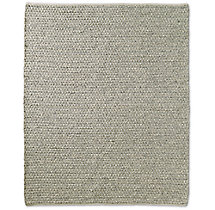 Chunky Mini-Diamond Wool Rug - Light Grey