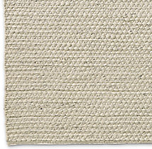 Chunky Mini Diamond Wool Rug Swatch - Ivory