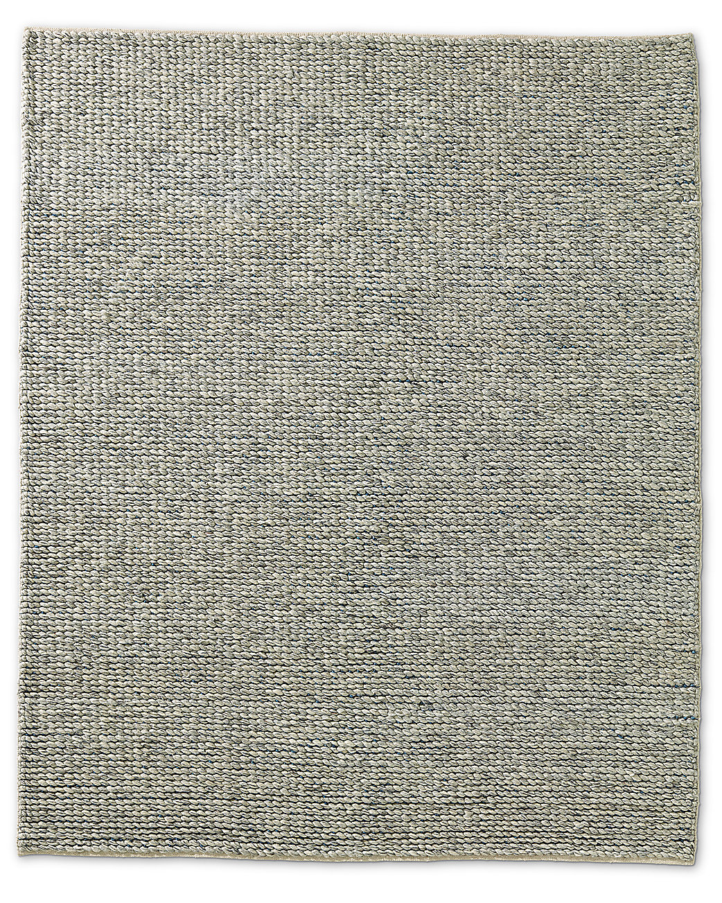Chunky Contrast Twist Wool Rug - Grey/Blue
