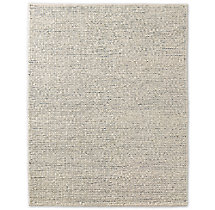Chunky Contrast Twist Wool Rug - Ivory/Blue