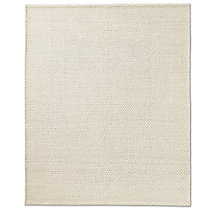Diamond Lattice Wool Rug - Cream