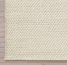 Diamond Lattice Wool Rug Swatch - Cream