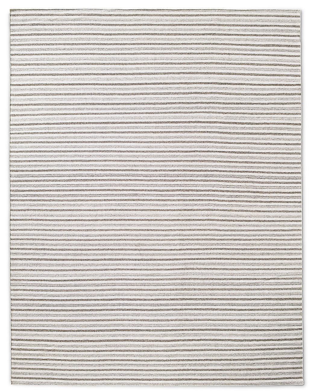 Double Stripe Flatweave Rug Oatmeal