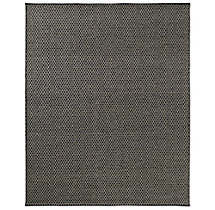 Honeycomb Wool Rug - Black