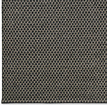 Honeycomb Wool Rug Swatch - Black