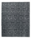 Floral Chevron Rug - Black