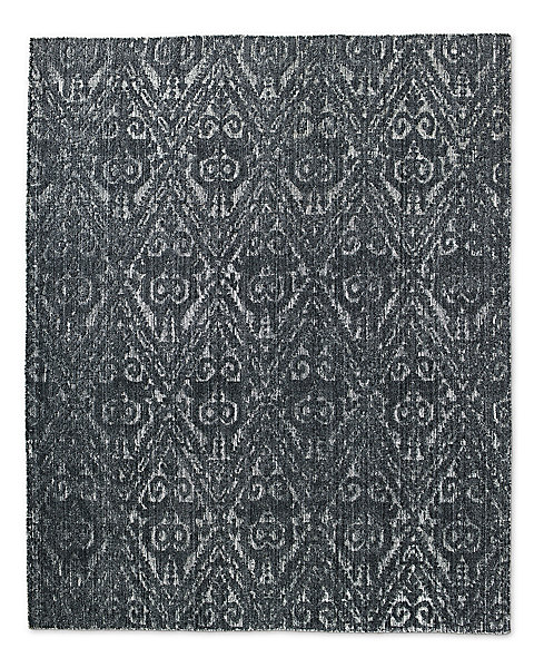 Fl Chevron Rug Black