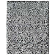 Floral Chevron Rug - Charcoal