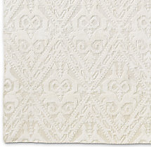 Floral Chevron Rug Swatch - Cream