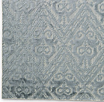 Floral Chevron Rug Swatch - Silver