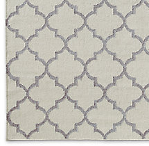 Moroccan Tile Flatweave Rug Swatch - Silver