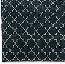 Trevo Moroccan Rug Swatch - Dark Grey