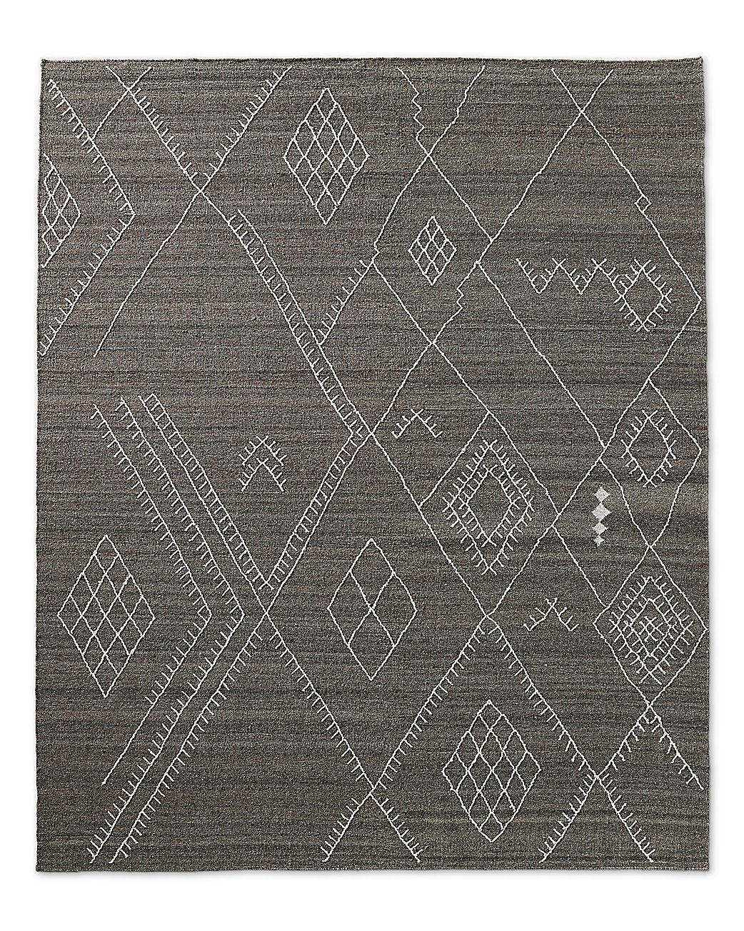 Sarto Embroidered Flatweave Rug - Charcoal
