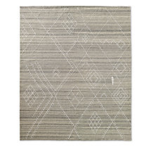 Sarto Embroidered Flatweave Rug - Grey