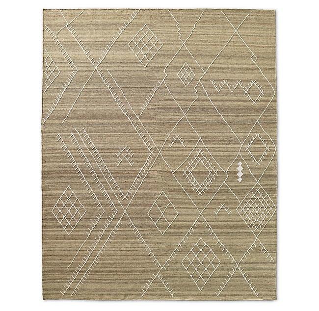 Sarto Embroidered Flatweave Rug Sand