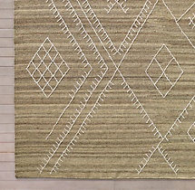 Sarto Embroidered Flatweave Rug Swatch - Sand