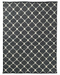 Braided Octagon Wool Rug - Charcoal