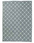 Braided Octagon Wool Rug - Fog