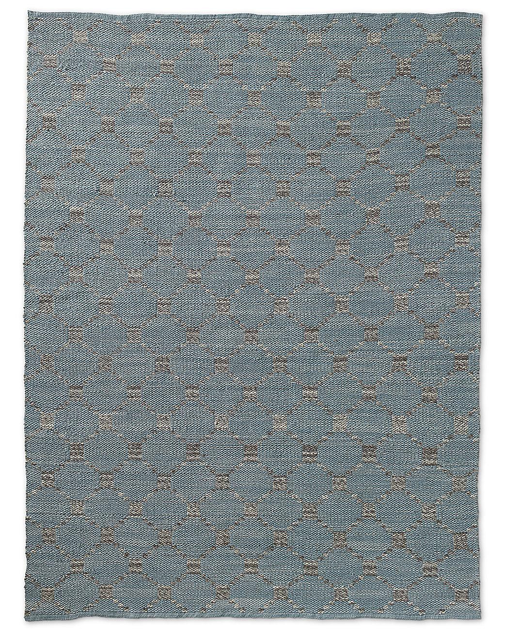 Braided Octagon Wool Rug Grey