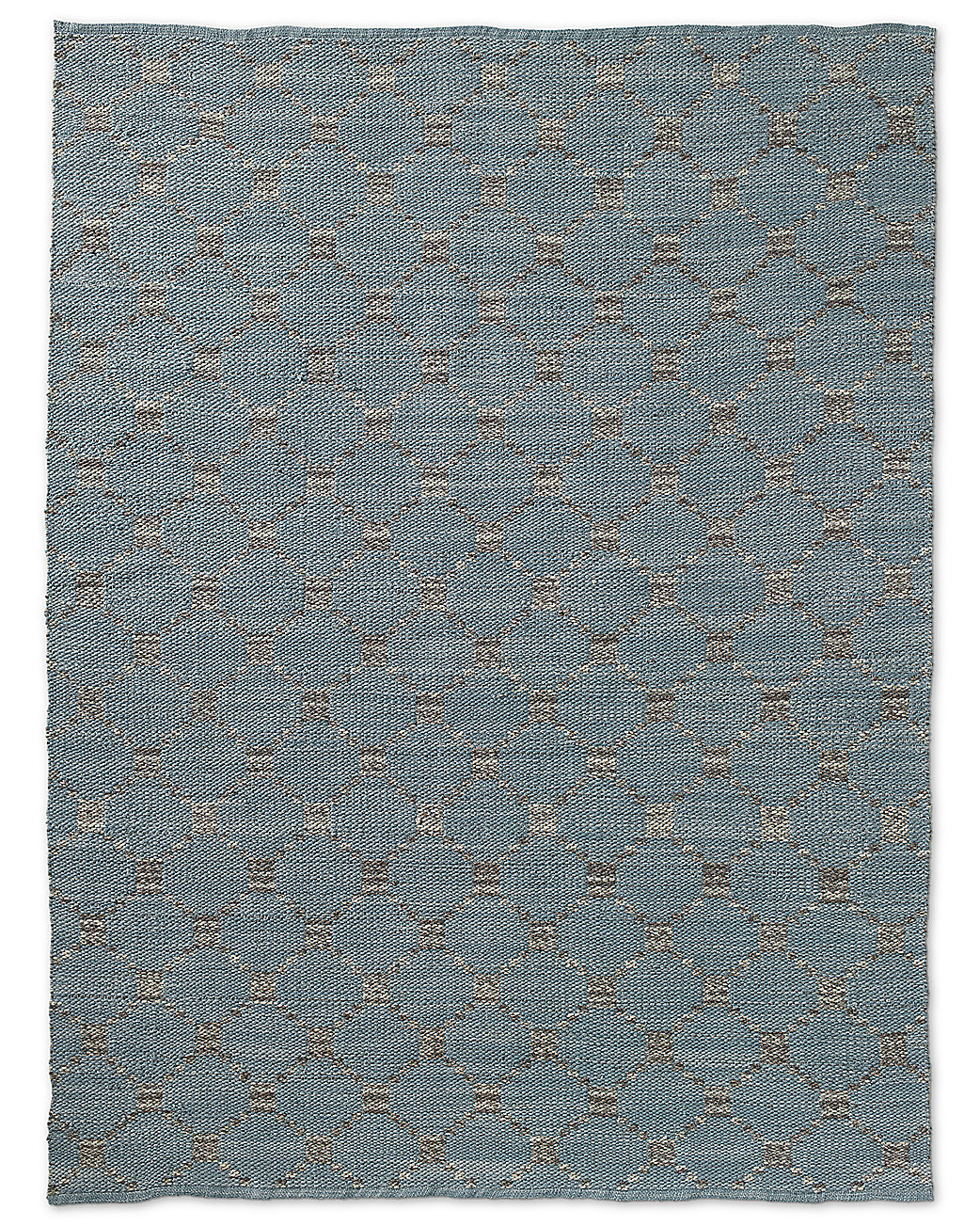 Braided Octagon Wool Rug - Grey
