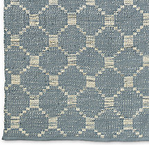 Braided Octagon Wool Rug Swatch - Fog