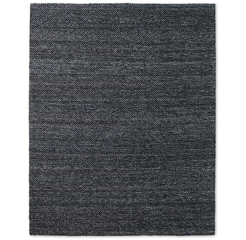 Luxe Looped Wool Rug - Graphite