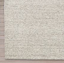 Luxe Looped Wool Rug Swatch - Silver