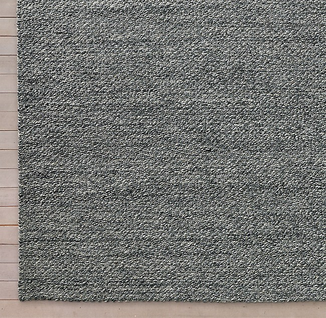 Luxe Looped Wool Rug Swatch Grey