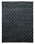 Reverse Raised Diamond Rug - Charcoal
